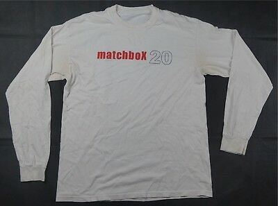 Rare Vintage Matchbox 20 Twenty Tour LS Tee T Shirt 90s Rock Band Retro White