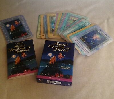 Magical Mermaids and Dolphins Oracle Cards by Doreen Virtue 2003 Fantasy Tarot