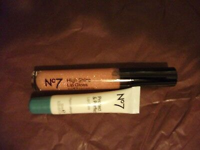 Boots No 7 Protect & Perfect Lip Care and High Shine Lip gloss, Sparkling Rose