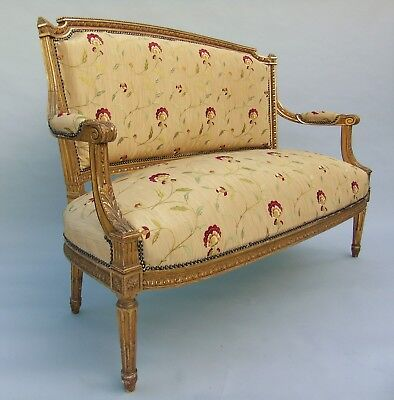 Pretty Antique French Giltwood Sofa