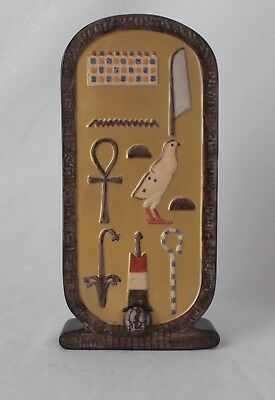 Boehm Porcelain King Tut Egyptian Cartouche Paperweight
