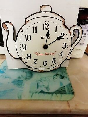 Wall Clock In A Design Of A Tea Pot Quartz Battery Movement