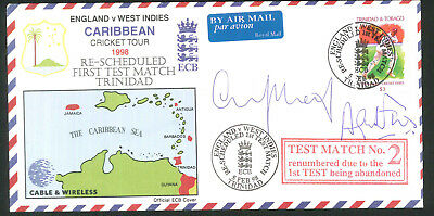Autographed Cricket Cover - Signed M Atherton & A Fraser  - Caribbean Tour 1998