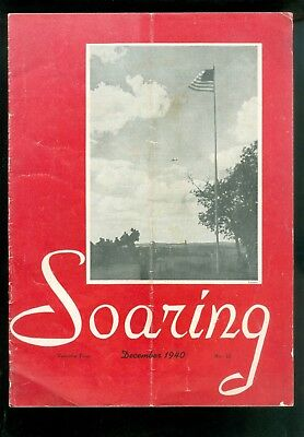 1940 SOARING Magazine For Gliding Gliders Aircraft