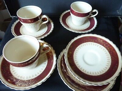 J.& G. Meakin Sol - 3 small cups & 5 saucers