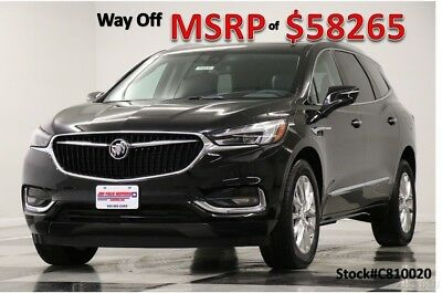 2018 Buick Enclave MSRP$58265 AWD Premium DVD GPS Sunroof Black New Navigation Heated Cooled Leather Captains Seats Navigation Ebony 17 18 2017