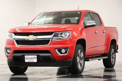 2015 Chevrolet Colorado 4X4 Leather GPS Camera Red Hot Crew 4WD Used Like New Heated Black Seats Bluetooth Navigation 16 17 18 2016 Remote Start