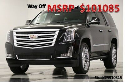 2019 Cadillac Escalade MSRP$101085 4X4 Platinum Sunroof DVD Black 4WD New Heated Cooled Leather Seats GPS Navigation Player 22 Inch Rims 18 2018 19