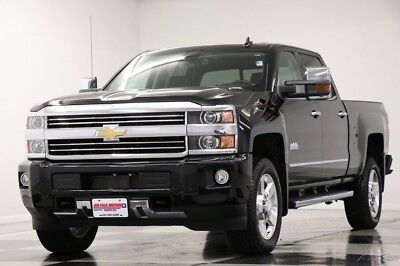 2016 Chevrolet Silverado 2500 HD 4X4 High Country Diesel GPS Black Crew 4WD Used 2500HD Heated Cooled Saddle Leather Navigation Duramax 17 18 2018 16 Cab