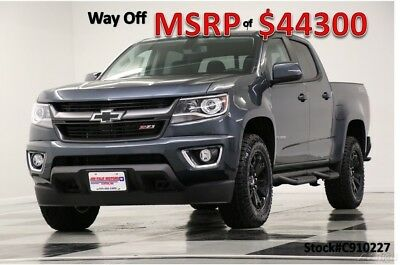 2019 Chevrolet Colorado MSRP$44300 4X4 Z71 Leather Shadow Gray Crew 4WD New Heated Black Leather Seats Camera Metallic 17 18 2018 19 Cab Bluetooth