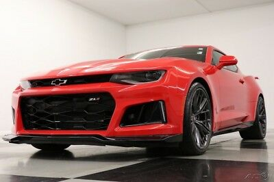 2018 Chevrolet Camaro ZL1 Sunroof Leather Red Hot Coupe Like New 6.2L V8 Heated Cooled Black Leather Camera Bluetooth Manual 17 2017 18