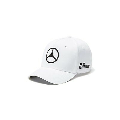 NEW 2018 Mercedes AMG F1 Adults Lewis Hamilton Baseball Cap Hat WHITE – OFFICIAL