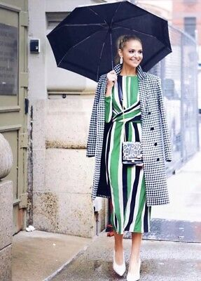 Bnwt Zara Green Striped Dress Bloggers Fave Size M Bloggers Fave Sold Out