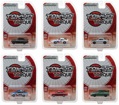 Tokyo Torque Series 3 Set Of 6 Cars 1/64 Diecast Model Cars By Greenlight 47010