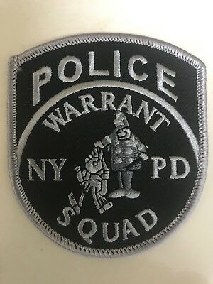 NYPD New York City Police Department Subdued Warrant Squad Patch