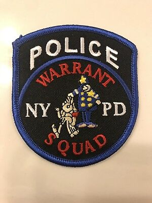 NYPD New York City Police Department Warrant Squad Patch