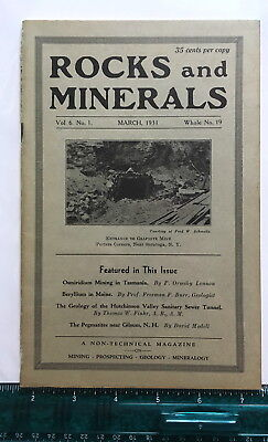Rocks & Minerals Magazine, Volume 6 Number 1, Whole Number 19, March, 1931