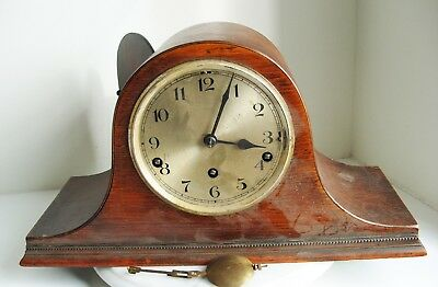 An Old Napoleon Hat Westminster Chime Mantle Clock