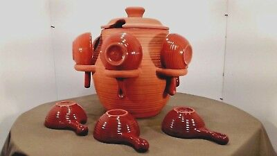Blue Mountain Pottery Sangria Pot with 9 bowls Mold# 742