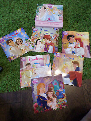 Disney Princess 6 Books Set Happily Ever After Stories carry case Christmas