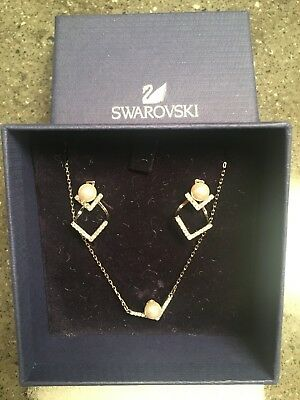 Swarovski EDIFY NECKLACE and EARRINGS set Rhodium plated