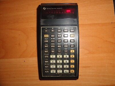 Texas Instruments TI-59 Vintage LED Calculator - m. Master Libr. Mod. und Tasch