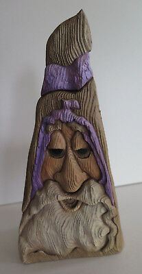 R.A Pitz Wizard Nester Limited Edition Hand Carved Wooden Holder 1991