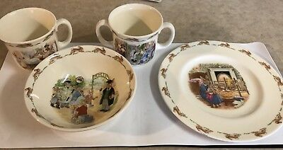 Bunnykins Child's Bone China Plate, bowl and two cups Royal Doulton