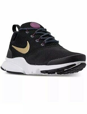 wholesale dealer bb7c1 86eef NIKE PRESTO FLY (GS) Youth Girls Running Shoes Size 7Y Black Gold 913967-