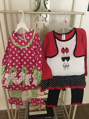 Lot Of 2 Girls Namebrand 2 Piece Pantsets Size 3T NWT