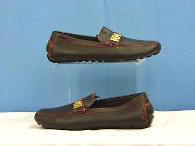Authentic Louis Vuitton Driving Shoes Loafers Fa0094 Brown  Size  9 E