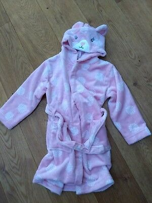 Girls John Lewis Pink Robe Ears Dressing Gown 6 Yrs NEW
