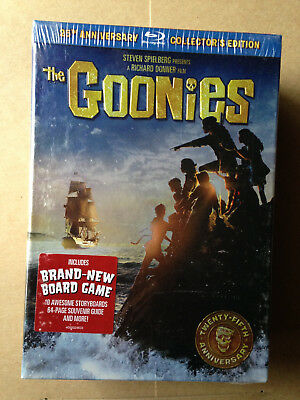 The Goonies: 25th Anniversary Edition (Blu-Ray Movie/Disc; 2010) w/ Board New