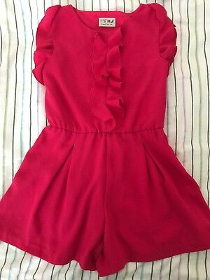 Next Bright Pink Girls Playsuit Age 6 Years