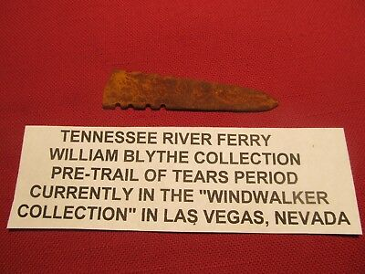 "3""  Fur Trade  iron Arrowhead from Tenneessee River  Blythes Ferry Meigs County"
