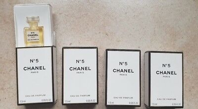 Lot 4 Miniatures N°5 Chanel Eau De Parfum  1,5Ml