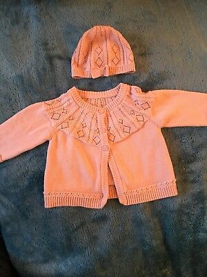 Pretty Pink Cardigan And Hat Mothercare Up To 1 Mnth