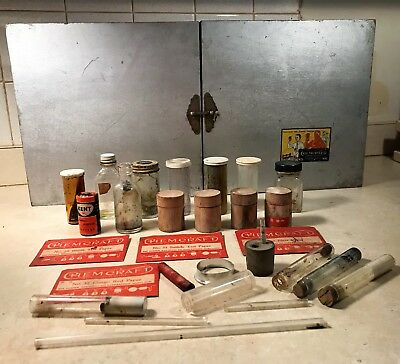 Vintage 1935 Porter Chemcraft Chemistry Outfit No. 5 Set Box Extras Science Toy