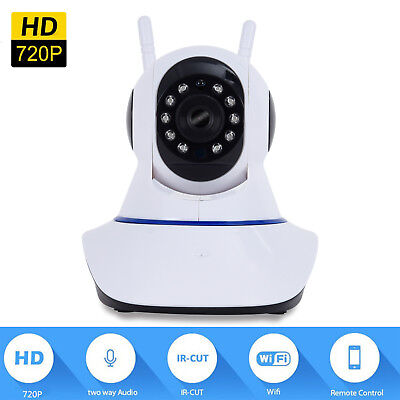 Smart Wireless Home Security 720P WiFi IP Surveillance CCTV Camera Monitor Alarm