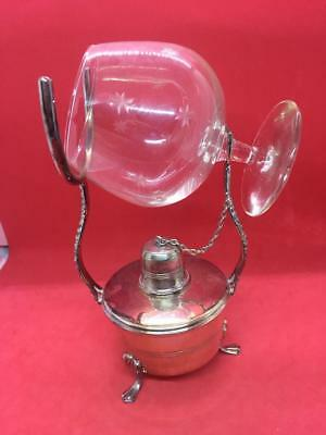 ANTIQUE RHV & Co EPNS BRANDY GLASS WARMER