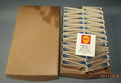 Vintage Old Shell Gas & Oil Sign Logo 44 Match Books Janesville,Mn Oil Company