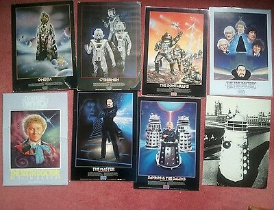 Doctor dr who artwork job lot A3 posters andrew skilleter dalek original vintage