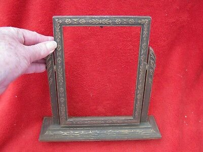 """Vintage/Antique Art Deco,Wooden Frame 6""""x8"""",on Swivel Stand,Very Ornate!"""