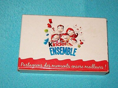 KINDER :Jeu de carte Animaux de compagnie de la campagne KINDER ENSEMBLE FRANCE