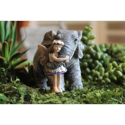 Miniature Dollhouse FAIRY GARDEN - Elephant Hugs - Accessories