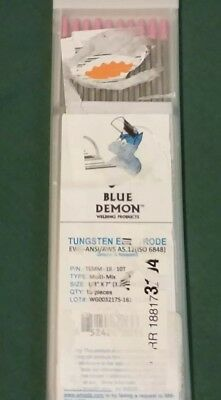 EWZr-0.3 X 1/8 .03% Zirconiated tungsten electrode Blue Demon TIG 10 pack