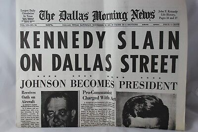 The Dallas Morning News Kennedy Assassination November 23 1963 Reprint Newspaper