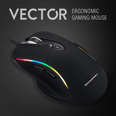 Computer Gaming Mouse 5000 DPI 7Buttons USB LED RGB Light 3325 Sensor 1000Hz