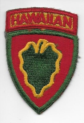 Pre Wwii Hawaiian Division All Cotton Embroidered Patch