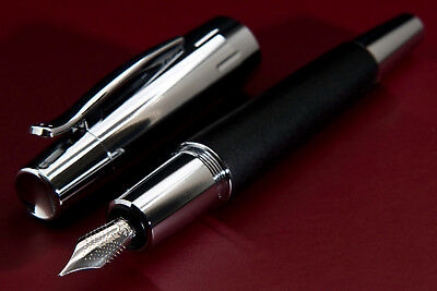 Faber Castell E-Motion Black Wood Fountain Pen